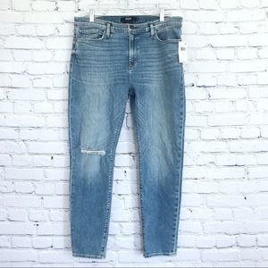 Hudson Nico Super Skinny Ankle Jeans Mid Rise Distressed New Size 32x27.5